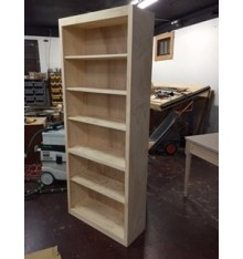 Pine Bookcase 32 wide x 78 tall x 12 deep