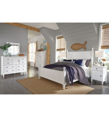 Cottage Bedroom Collection in Beach White