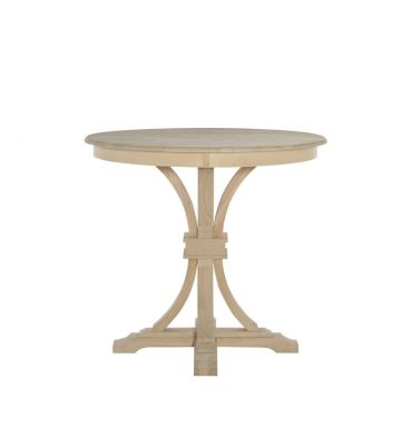 42 Inch Paige Flared Pedestal Gathering Table Wood N Things