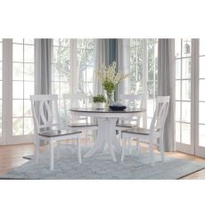 [48 Inch] Sienna Round Dining Table with Pedestal Base