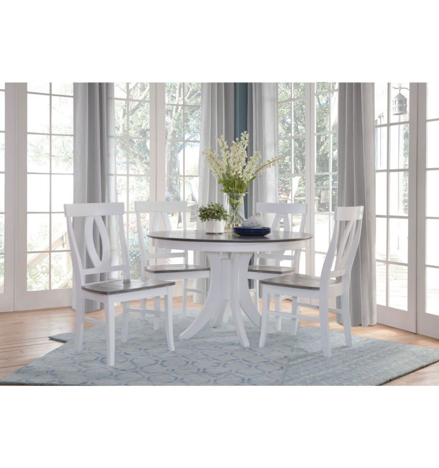 48 Inch Siena Round Dining Table With Pedestal Base