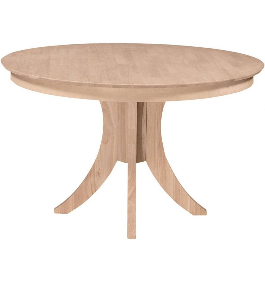 48 Inch Siena Round Dining Table With Pedestal Base Wood N Things Furniture Gretna La