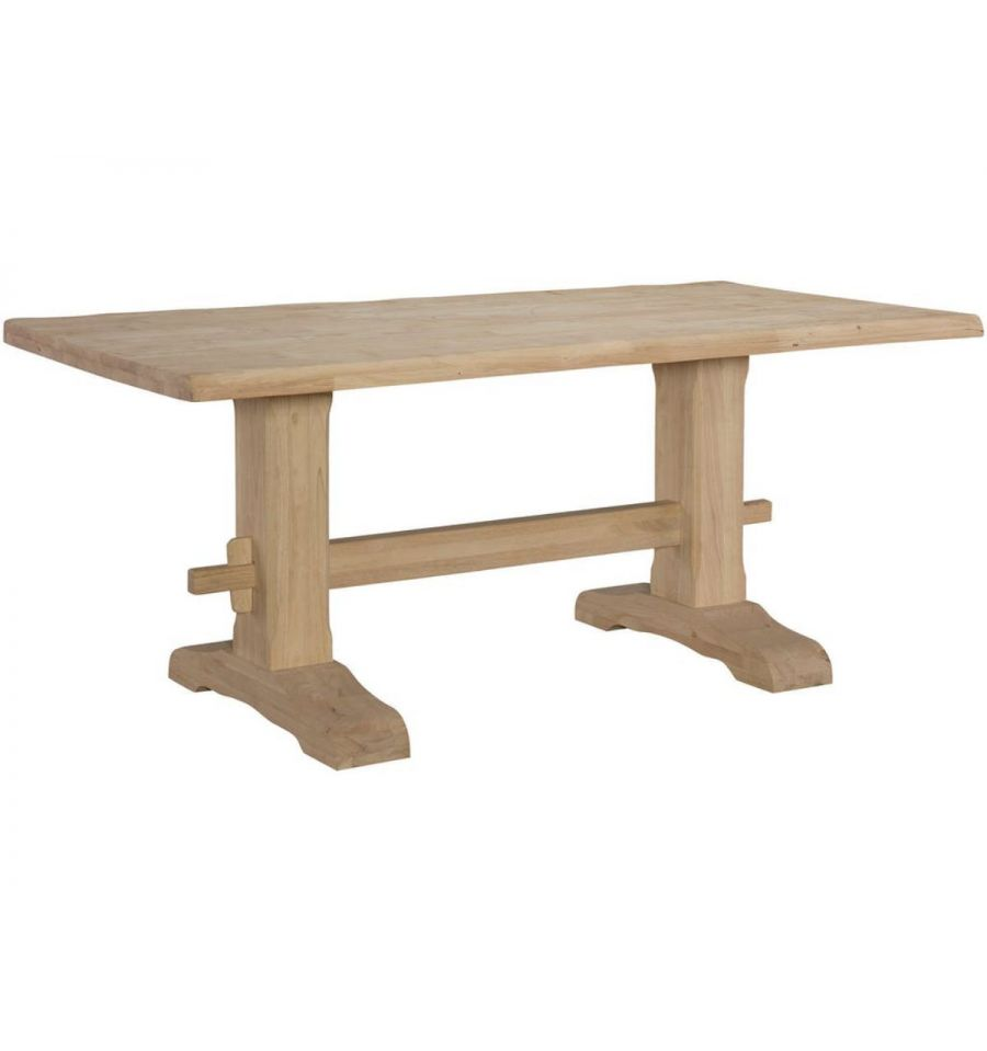 Inch Live Edge Trestle Dining Table Woodn Things Furniture - 72 trestle dining table
