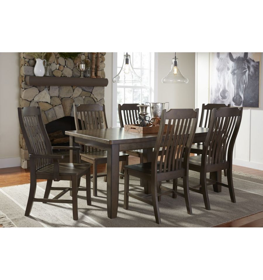 96 Inch Farmhouse Extension Dining Table With Shaker Legs Graphite