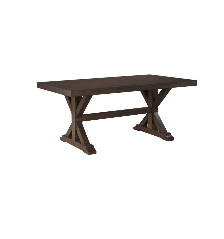 68 Inch Canyon Trestle Dining Table Wood N Things
