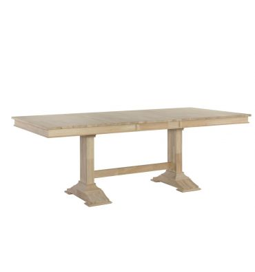 Inch Trestle Dining Table With Self Storing Leaf Woodn Things - 84 inch conference table
