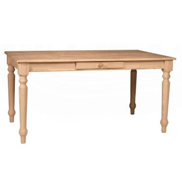 [60 Inch] Solid Top Farmhouse Dining Table