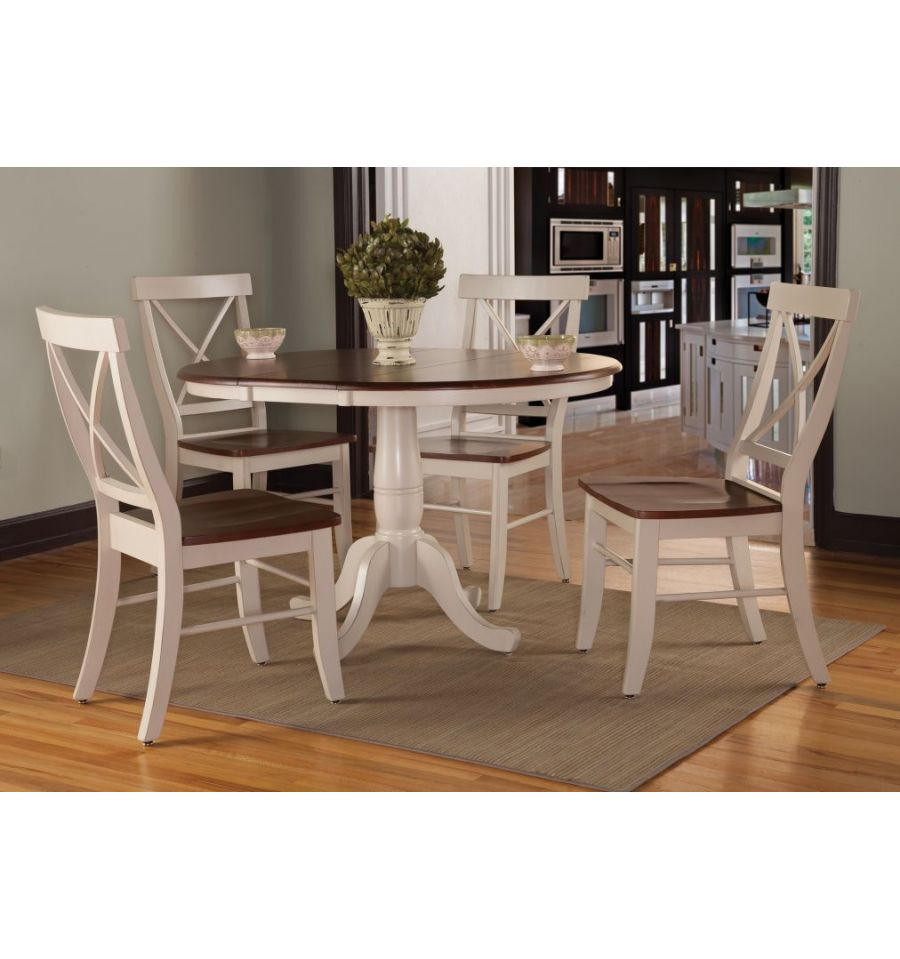 48 Inch Wide Rectangular Dining Table: [48 Inch] Round Extension Dining Table With Traditional