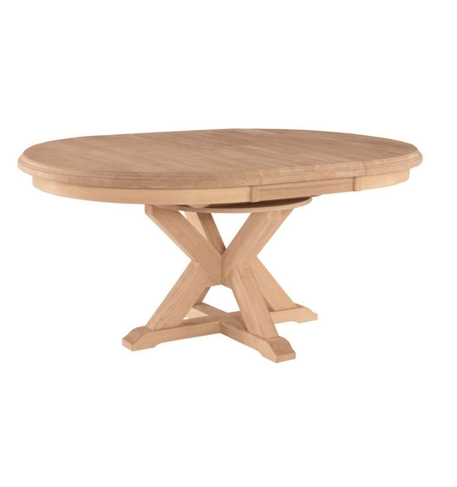 66 Inch Canyon Oval Pedestal Dining Table - Wood'n ...