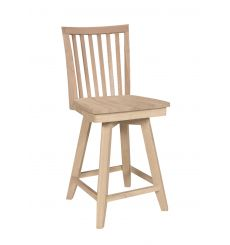 Mission Swivel Counter Stool (unfinished)