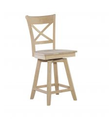 Charlotte Swivel Counter Stool (unfinished)