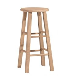 Round Top Bar Stool (unfinished)