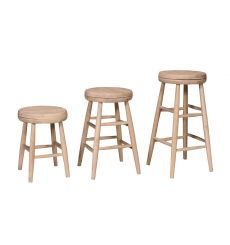 Scoop Seat Swivel Dining Stool (unfinished)