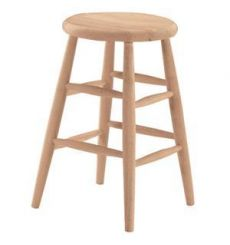 Scoop Seat Counter Stool (unfinished)
