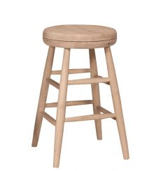 Scoop Seat Swivel Counter Stool (unfinished)