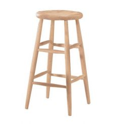 Scoop Seat Bar Stool (unfinished)
