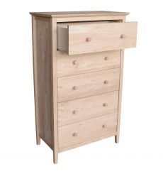 [30 Inch] Brooklyn 5 Drawer Chest (unfinished)