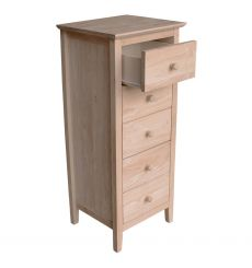 [17 Inch] Brooklyn 5 Drawer Lingerie Chest (unfinished)