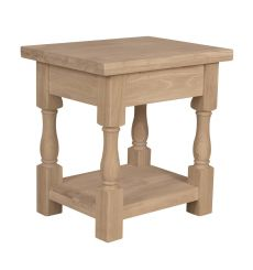 [24 Inch] Tuscan End Table (unfinished)