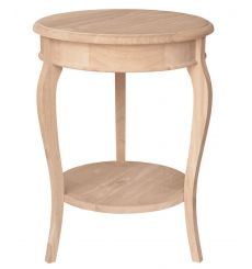 [16 Inch] Cambria Accent Table (unfinished)