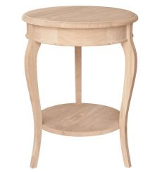 [18 Inch] Cambria Accent Table (unfinished)