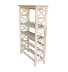 [48 Inch] X Side Wine Rack (front, unfinished)