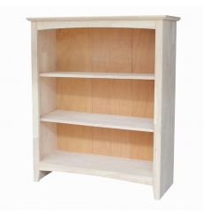 [36 Inch] Shaker Bookcases (no sides flush, unfinished)