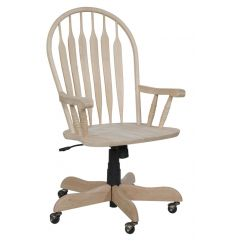 Deluxe Steambent Windsor Arm Desk Chair (unfinished)