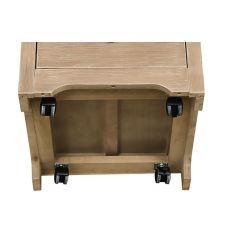 [18 Inch] Rolling File Cabinet (beach white)