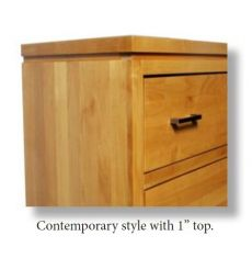 [22 Inch] West 2 Drawer Nightstand (finished for idea purposes)