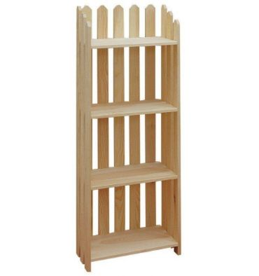 [22 Inch] 4 Shelf Picket Bookshelf