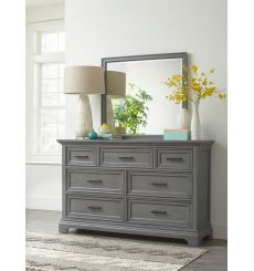 [64 Inch] Summit 7 Drawer Dresser (mineral gray)