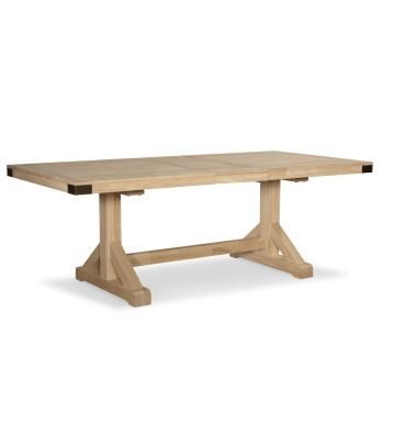 [84 Inch] Farmhouse Chic Extension Dining Table (unfinished)