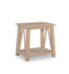 [18 Inch] Surrey End Table (unfinished)